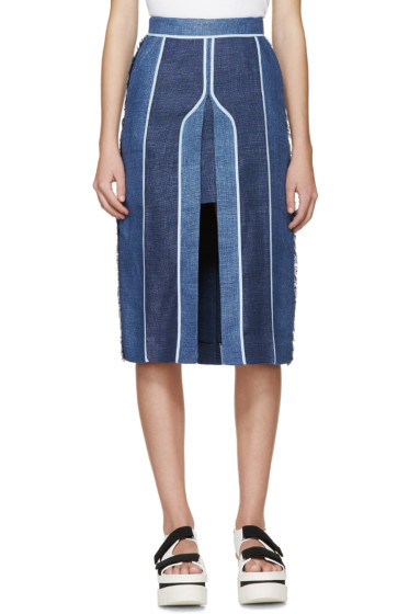 Acne Studios - Blue Linen Kent Skirt