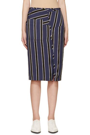 Acne Studios - Navy & Black Striped Karlotta Skirt