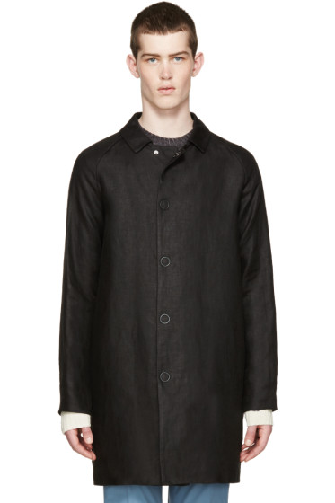Acne Studios - Black Linen Marl Coat