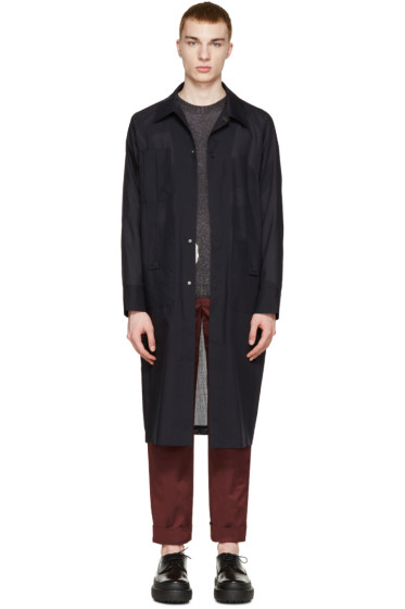 Acne Studios - Navy Wool Voile Mauro Coat