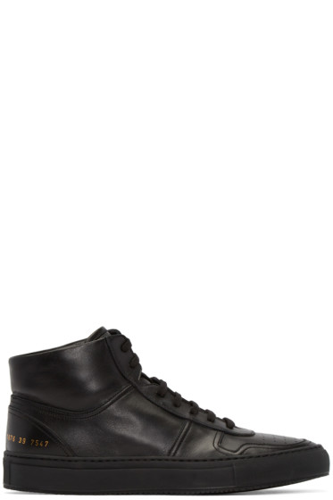 Common Projects - Black Bball High-Top Sneakers