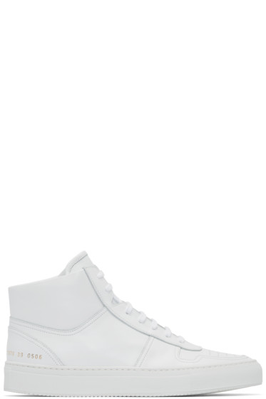 Common Projects - White Bball High-Top Sneakers