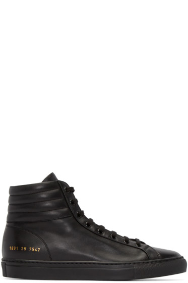 Common Projects - Black Achilles High-Top Sneakers