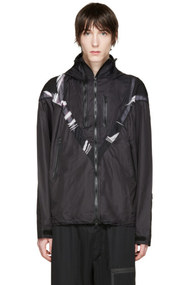 Y-3 - Black Twin Zip Panelled Jacket