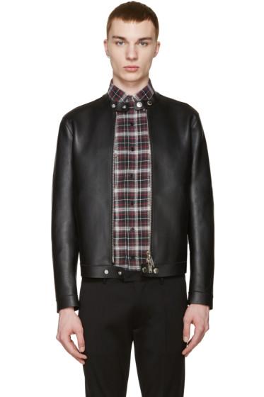 Dsquared2 - Black Leather Simple Biker Jacket