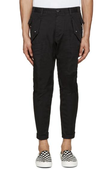 Dsquared2 - Black Cotton Cargo Pants