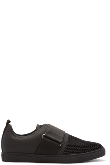 Dsquared2 - Black Strap Low-Top Sneakers