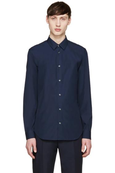 Maison Margiela - Navy Poplin Shirt