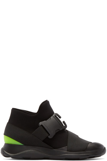 Christopher Kane - Black Buckle High-Top Sneakers