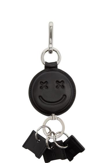 Alexander Wang - Black Leather Smiley Keychain