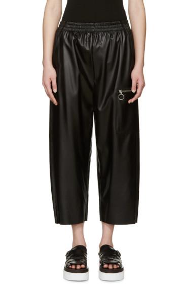 MM6 Maison Margiela - Black Faux Leather Pants