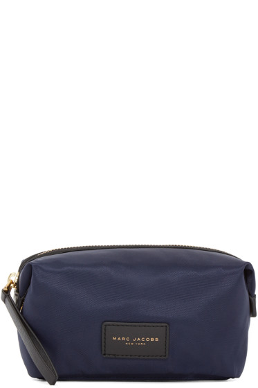 Marc Jacobs - Navy Nylon Biker Cosmetic Case