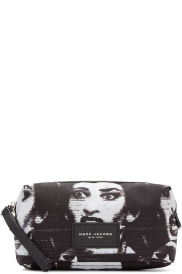 Marc Jacobs - Black & White Maria Callas Biker Cosmetics Case