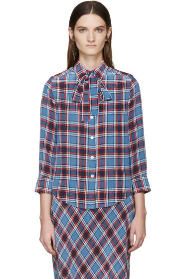 Marc Jacobs - Blue & Red Silk Check Shirt