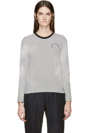Marc Jacobs - Black & White Long Sleeve Striped T-Shirt