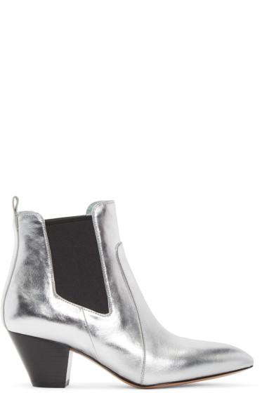 Marc Jacobs - Silver Metallic Kim Chelsea Boots