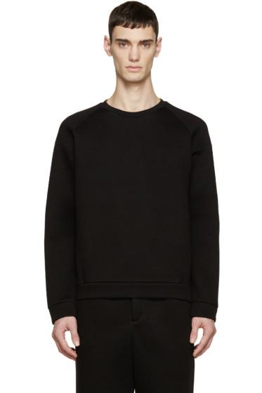 T by Alexander Wang - Black Neoprene Sweatshirt