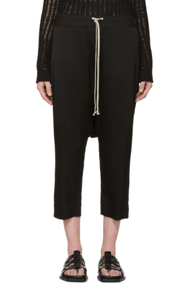 Rick Owens - Black Cropped Sarouel Trousers