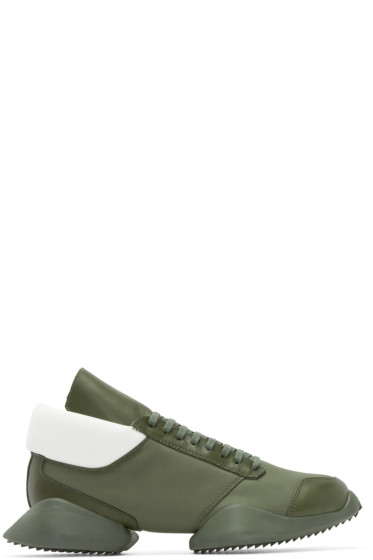 Rick Owens - Green Leather adidas by Rick Owens Sneakers