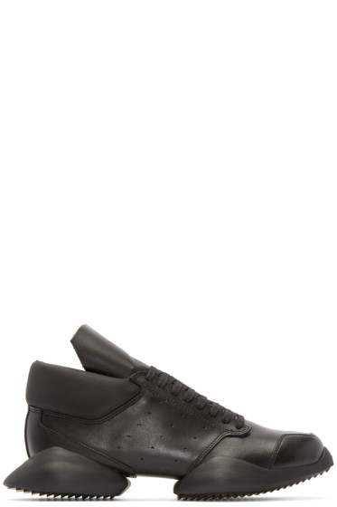 Rick Owens - Black Leather adidas by Rick Owens Sneakers