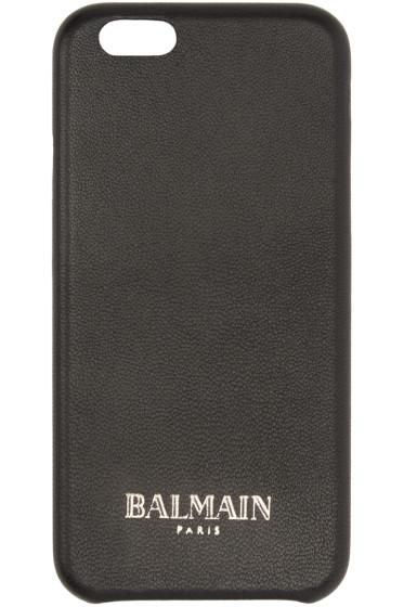 Balmain - Black Leather iPhone 6 Case