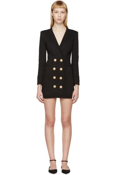 Balmain - Black Suit Jacket Dress