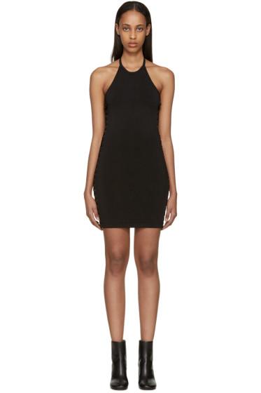 Balmain - Black Knit Halter Dress