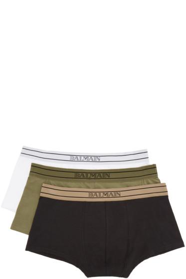 Balmain - Tricolor Briefs Three-Pack