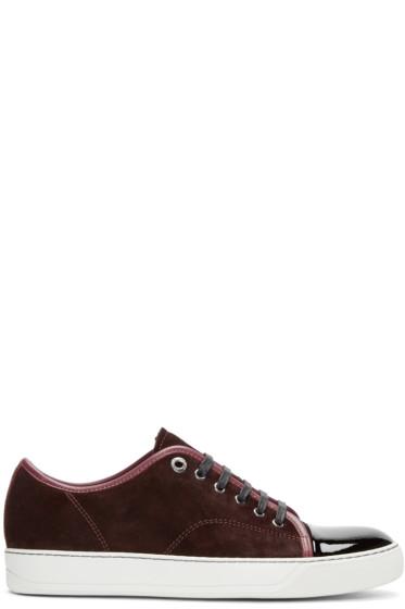 Lanvin - Plum & Black Classic Tennis Sneakers