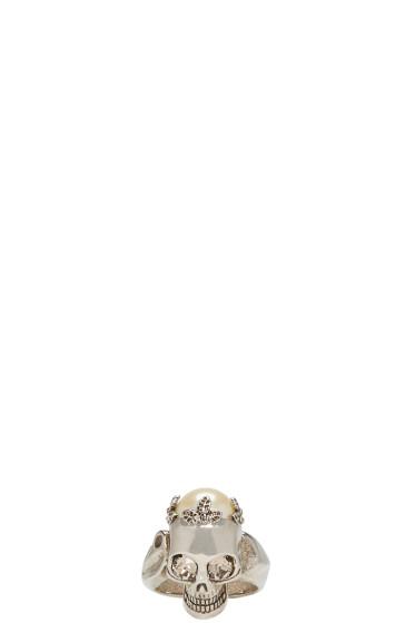 Alexander McQueen - Gunmetal Skull Ring