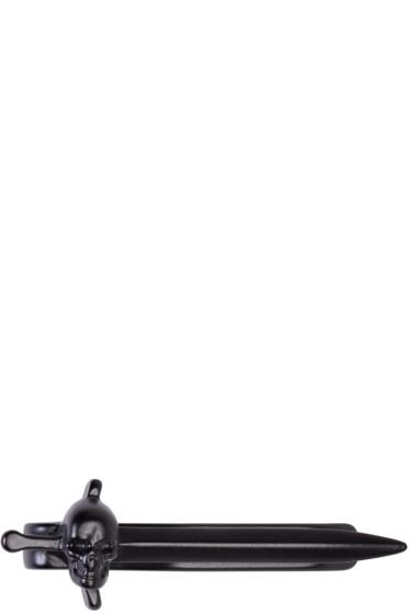 Alexander McQueen - Black Skull & Sword Tie Bar