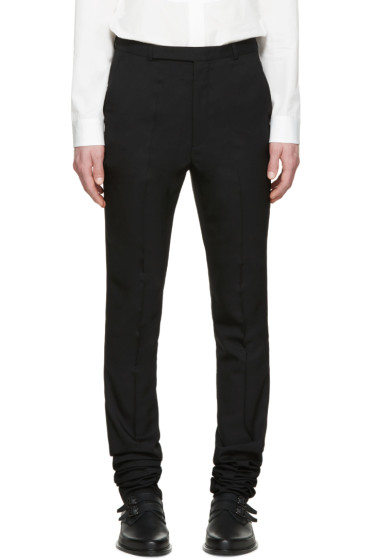 Paul Smith - Black Extra-Long Wool Trousers