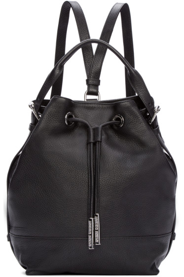 Opening Ceremony - Black Leather Izzy Backpack