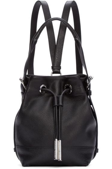 Opening Ceremony - Black Leather Mini Izzy Backpack