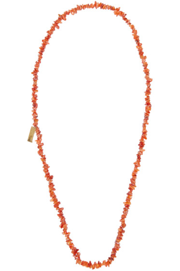 Damir Doma - Orange Beaded Alicia Necklace