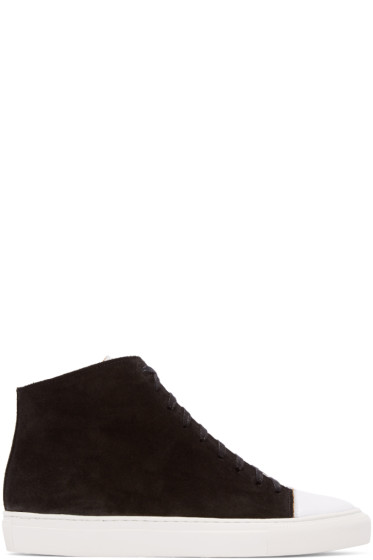 Damir Doma - Black Suede Framio High-Top Sneakers