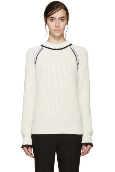 3.1 Phillip Lim - Ivory Raglan Knit Sweater