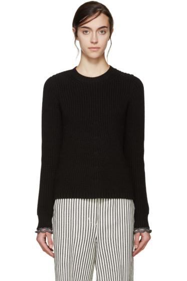 3.1 Phillip Lim - Black Flared Knit Sweater