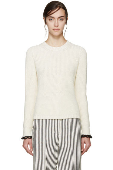 3.1 Phillip Lim - Ivory Flared Knit Sweater