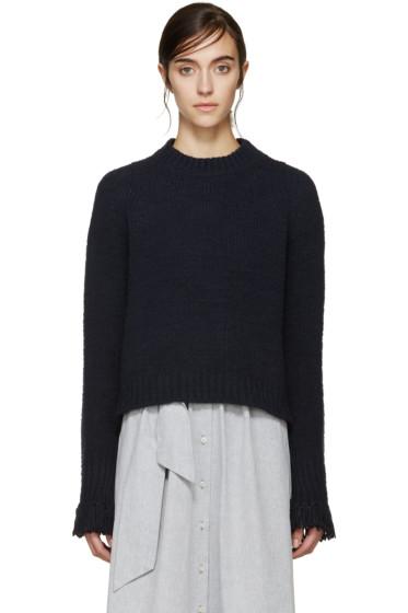 3.1 Phillip Lim - Navy Fringed Cuff Sweater
