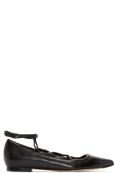 3.1 Phillip Lim - Black Leather Martini Flats