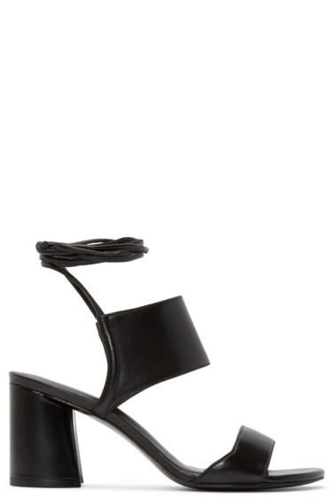 3.1 Phillip Lim - Black Lace-Up Drum Sandals