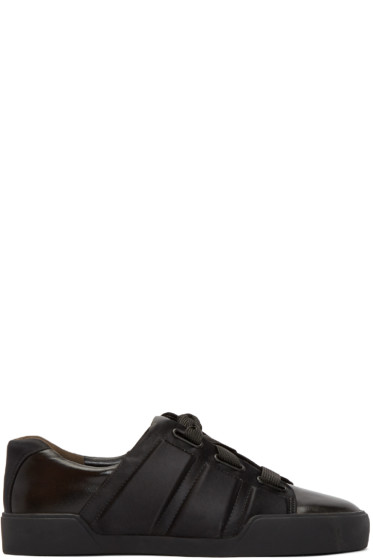 3.1 Phillip Lim - Black Leather & Satin Sneakers