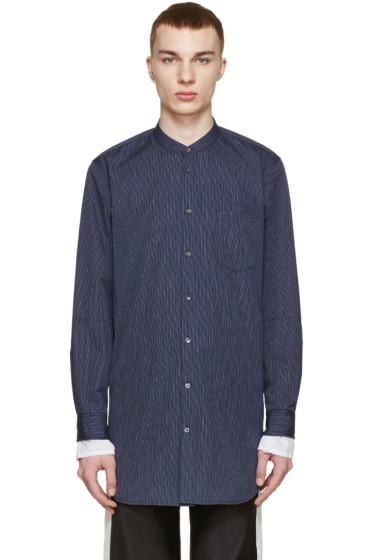 3.1 Phillip Lim - Navy Poplin Pinstriped Shirt