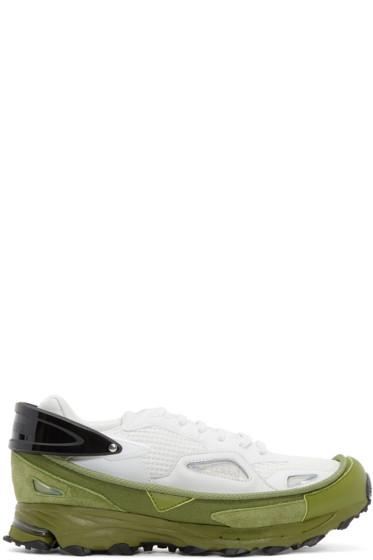 Raf Simons - White & Green Response Trail 2 adidas by RAF SIMONS Sneakers