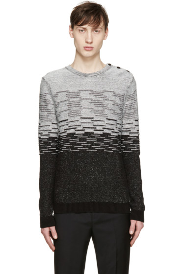 Carven - Black & White Striped Sweater