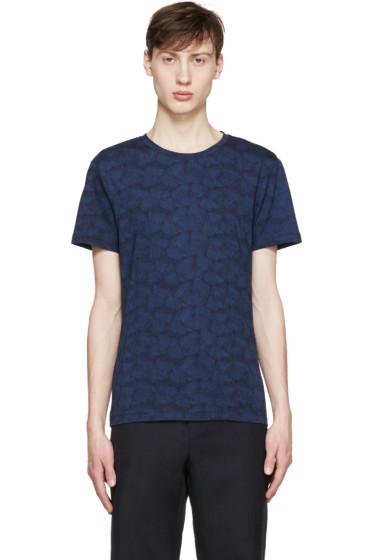 Carven - Navy Floral T-Shirt