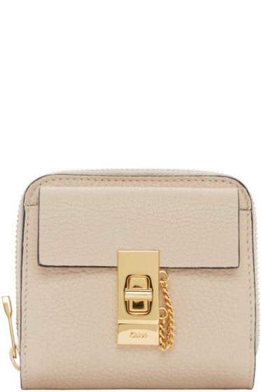 Chloé - Beige Small Square Drew Wallet