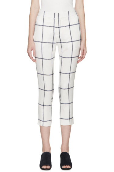 Chloé - Cream & Navy Square Trousers