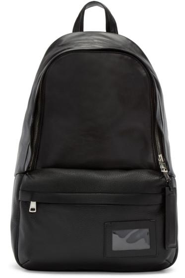 Juun.J - Black Leather Backpack